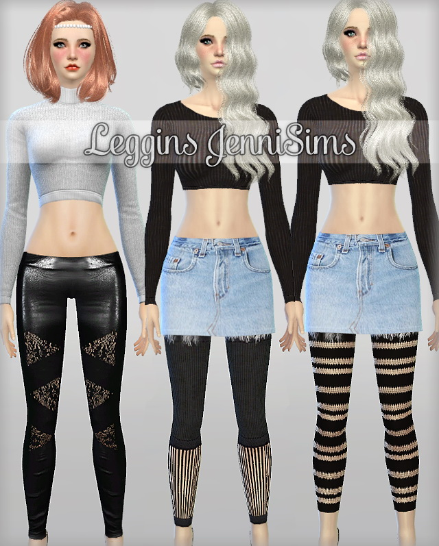 Sims 4 Leggings Collection at Jenni Sims