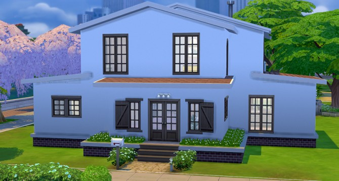 Simple house 4 by ra2rd at mod the sims sims 4 updates for Minimalist house sims 2