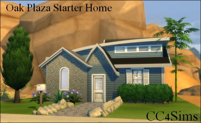 Sims 4 Oak Plaza starter home by Christine at CC4Sims