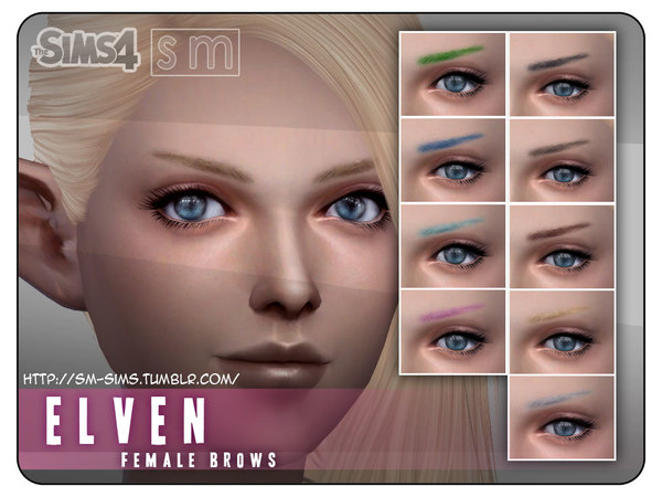 Elven Female Brows by Screaming Mustard at TSR image 1718 Sims 4 Updates