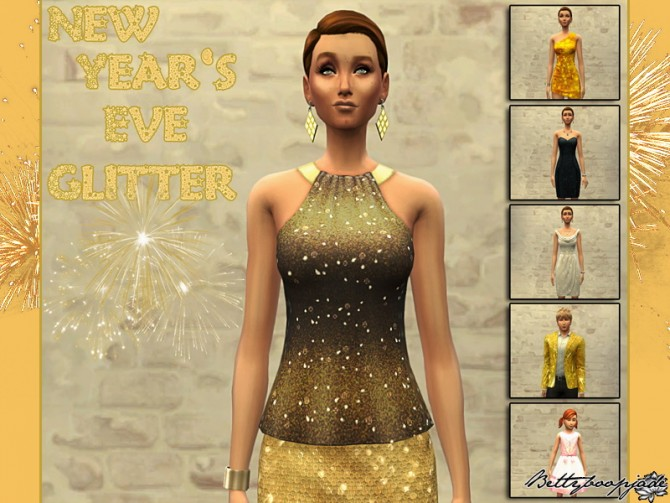 Sims 4 Shiny New Years Eve by Bettyboopjade at Sims Artists