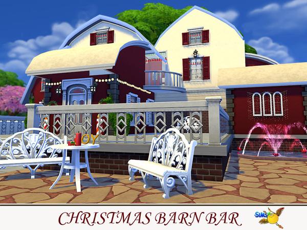 Sims 4 Christmas Barn Bar by Evi at TSR