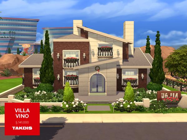 Sims 4 Villa Vino house by Takdis at TSR