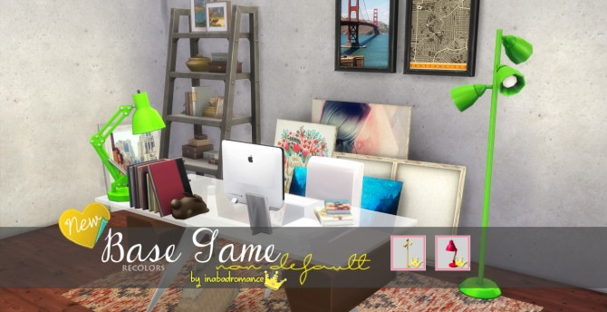 Sims 4 Claudine lamp and Spotlight Desk Lamp recolors at In a bad Romance