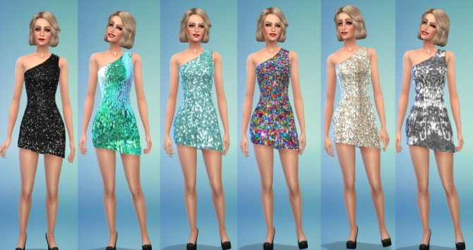 Sims 4 Backless Maxi & Sequin Cocktail Dresses at Belle's Simblr