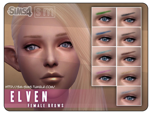 Sims 4 Elven Female Brows by Screaming Mustard at TSR
