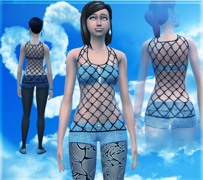 Sims 4 Summer walk outfit by malicieuse75 at Mod The Sims