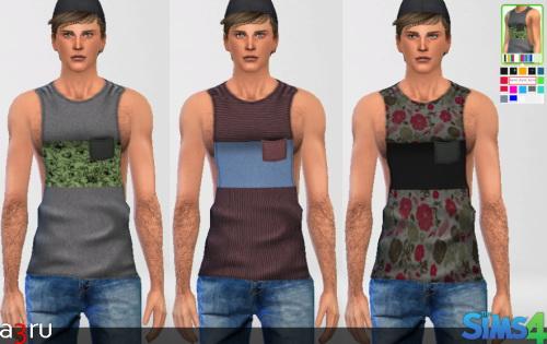 Sims 4 LumiaLover Sims 'Muscle Shirt' Re colours at A3RU