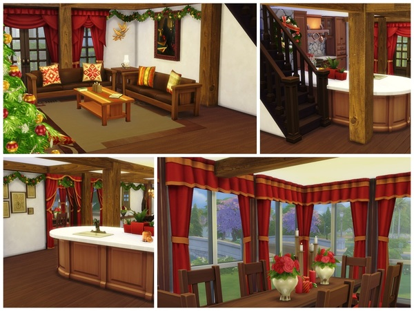 Christmas Log Cabin by Arelien at TSR image 1838 Sims 4 Updates