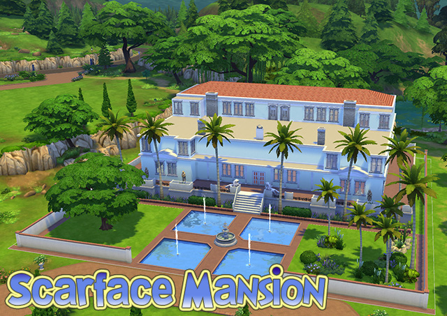 Sims 4 Scarface Mansion by Sim4fun at Sims Fans