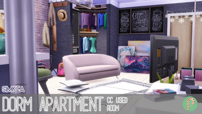 Dorm Apartment V.1 at Simkea image 1904 Sims 4 Updates