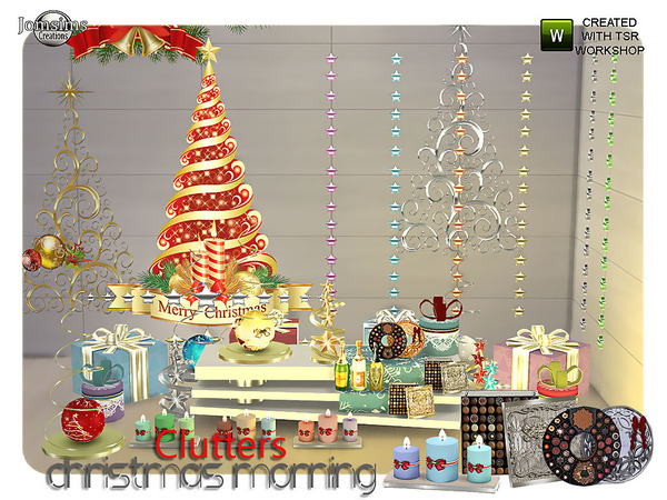 Christmas morning clutters by jomsims at TSR image 1912 Sims 4 Updates