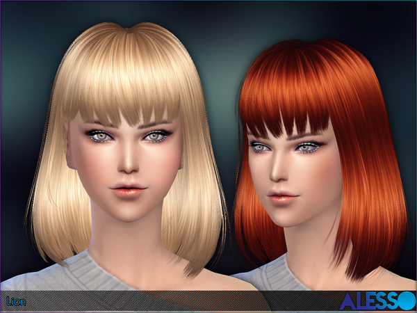 Lion long bob by Alesso at TSR image 192 Sims 4 Updates