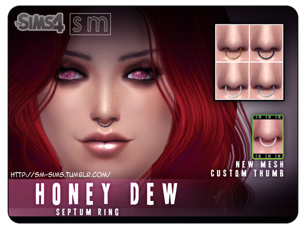 Septum Ring Piercing by Screaming Mustard at TSR image 1922 Sims 4 Updates