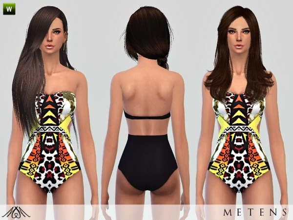 Sims 4 Evasion swimsuit by Metens at TSR