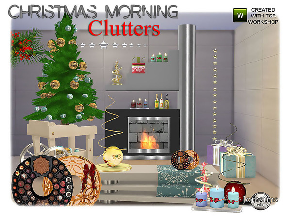 Christmas morning clutters by jomsims at TSR image 2010 Sims 4 Updates