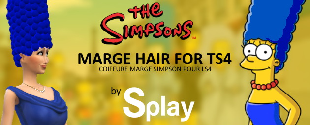 Marge Simpson hair at Splay image 2013 Sims 4 Updates