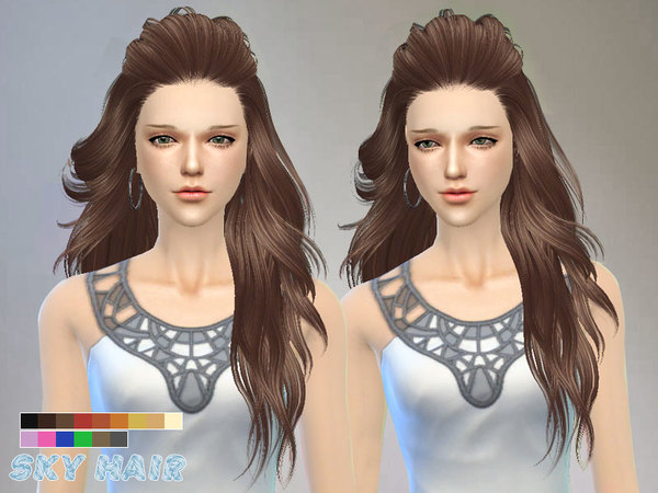 Hair 227 by Skysims at TSR image 2021 Sims 4 Updates