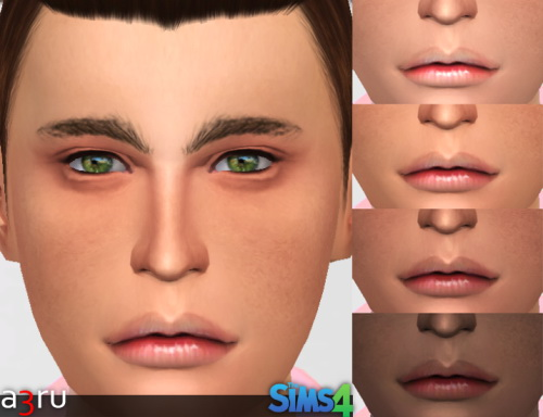 Realistic set of lips RJ077 for YAM & YAF at A3RU image 21011 Sims 4 Updates