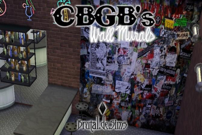 Sims 4 CBGBs Wall Murals at Brutal de Sims4