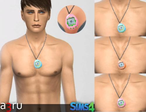 Sims 4 Tamagotchi Necklace at A3RU