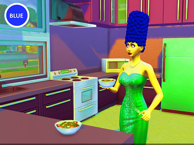 Marge Simpson hair at Splay image 2116 Sims 4 Updates