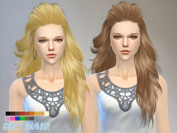 Hair 227 by Skysims at TSR image 2124 Sims 4 Updates