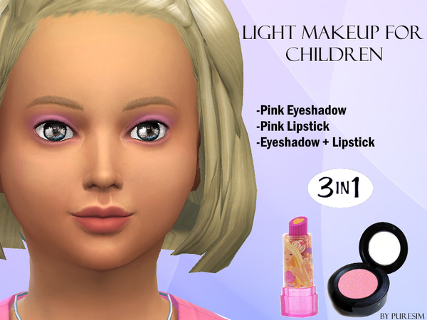 Sims 4 Light Makeup For Children by Puresim at TSR