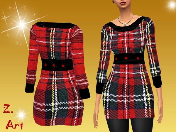 Xmas Square dress by Zuckerschnute20 at TSR image 2131 Sims 4 Updates