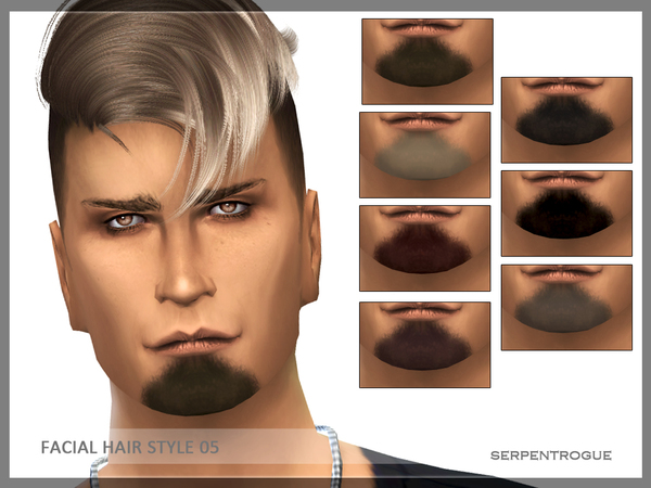 Facial hair style 05 by Serpentrogue at TSR image 2211 Sims 4 Updates