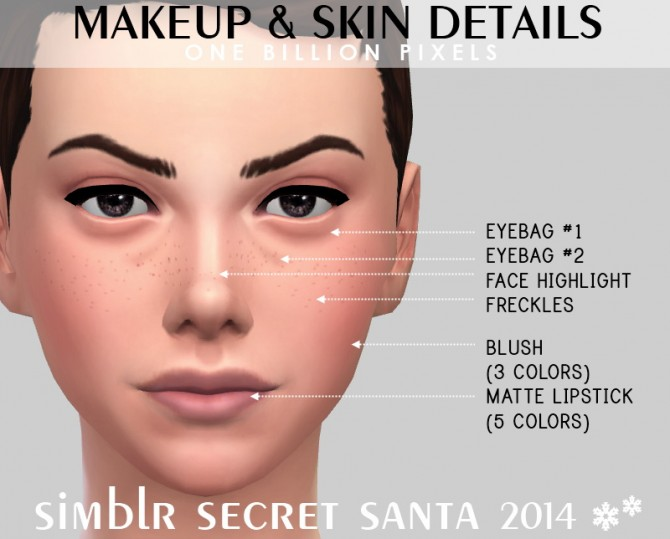 Makeup & Skin details & Tank top at One Billion Pixels image 22110 Sims 4 Updates