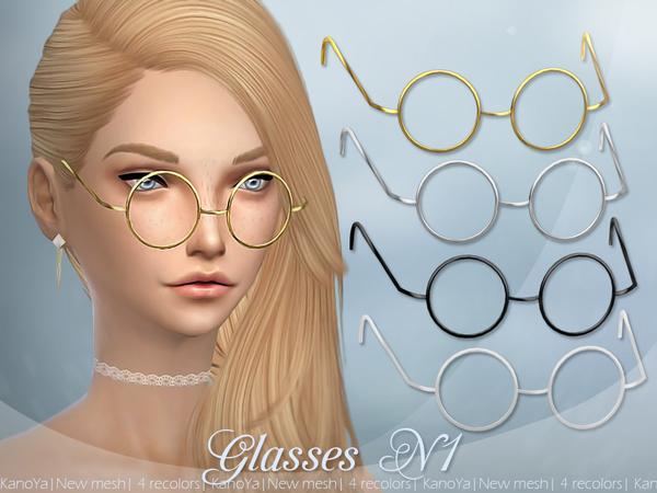 Sims 4 Glasses N1 by KanoYa at TSR