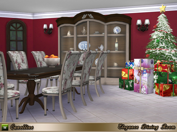 Elegance Dining Room by Canelline at TSR image 2226 Sims 4 Updates