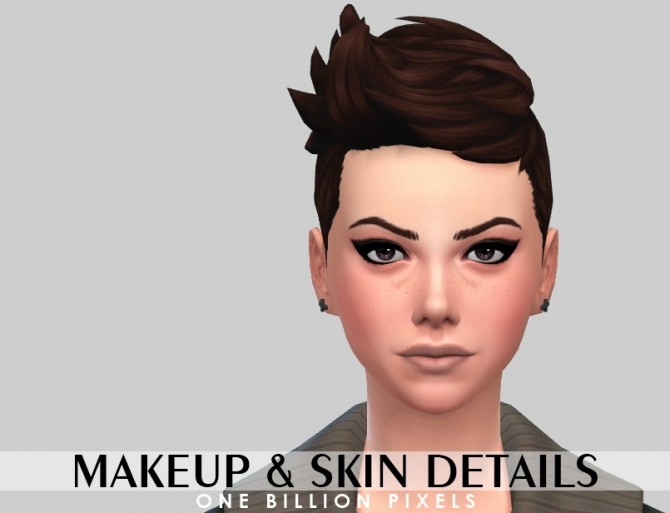 Makeup & Skin details & Tank top at One Billion Pixels image 2228 Sims 4 Updates