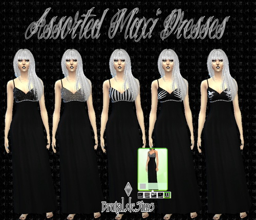 Assorted Maxi Dresses at Brutal de Sims4 image 2235 Sims 4 Updates