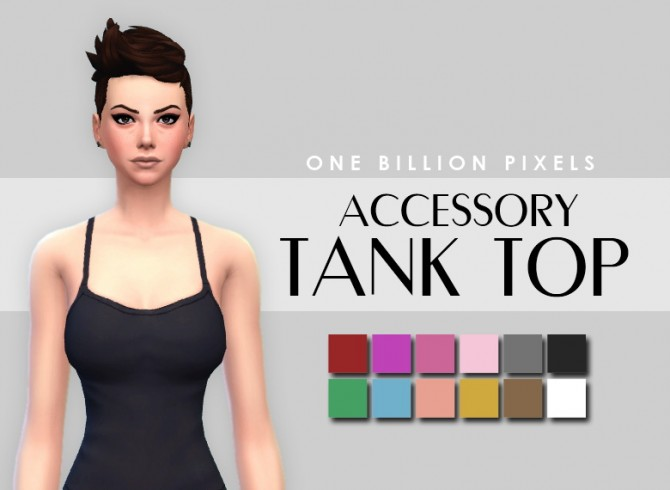 Makeup & Skin details & Tank top at One Billion Pixels image 2251 Sims 4 Updates