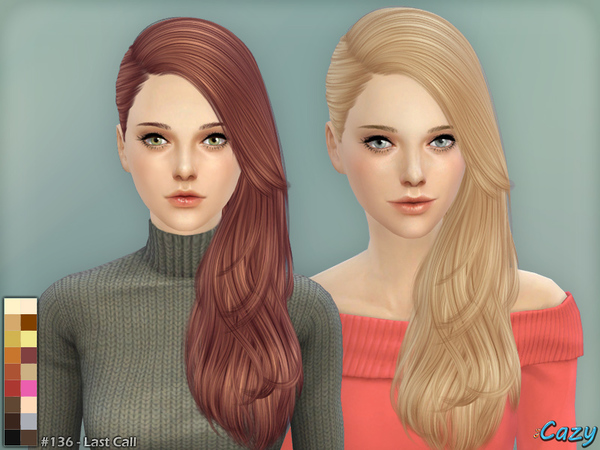 Last Call Hair By Cazy At Tsr Sims 4 Updates