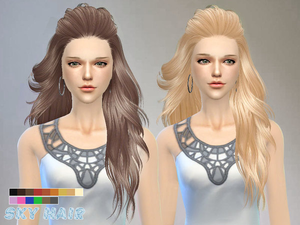 Hair 227 by Skysims at TSR image 2320 Sims 4 Updates