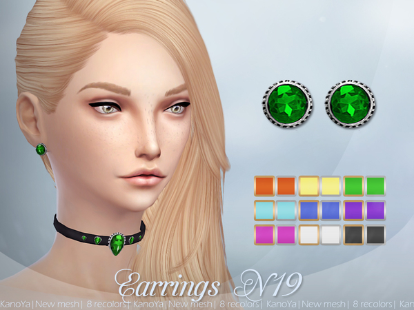 Earrings N19 by KanoYa at TSR image 2323 Sims 4 Updates