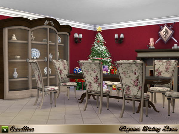 Elegance Dining Room by Canelline at TSR image 2326 Sims 4 Updates