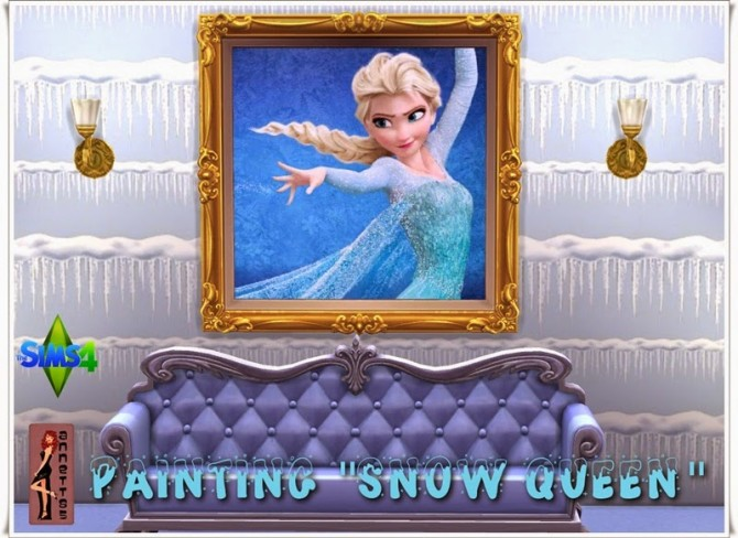 Sims 4 Snow Queen paintings at Annett's Sims 4 Welt