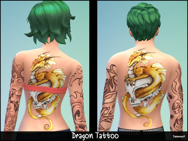 Dragon Tattoo 01 by tamoura1 at TSR image 243 Sims 4 Updates