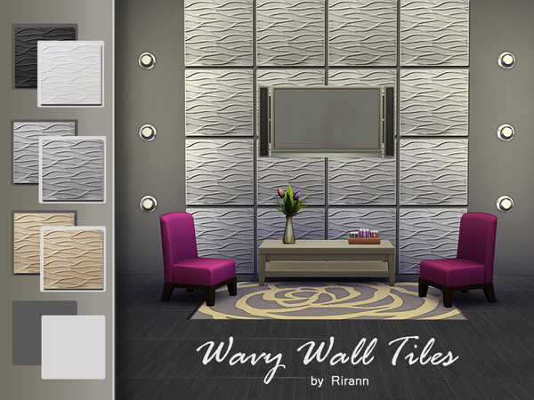 Wavy Wall Tiles by Rirann at TSR image 246 Sims 4 Updates