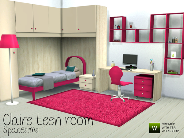 Sims 4 Claire teen room by spacesims at TSR
