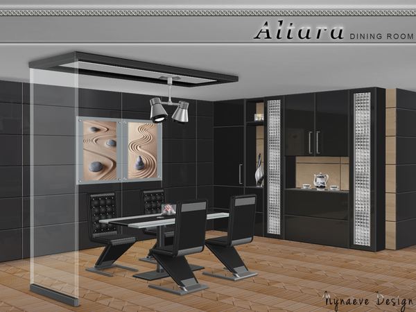 Altara dining room by nynaevedesign at tsr sims 4 updates for Sims 4 dining room ideas