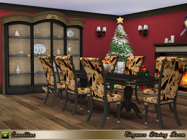 Elegance Dining Room by Canelline at TSR image 2527 Sims 4 Updates