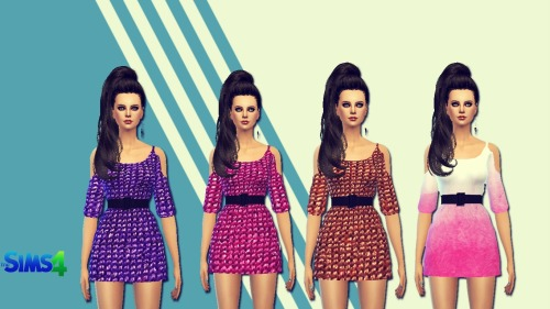 Sims 4 Gradient dress at Sims 4 Ego