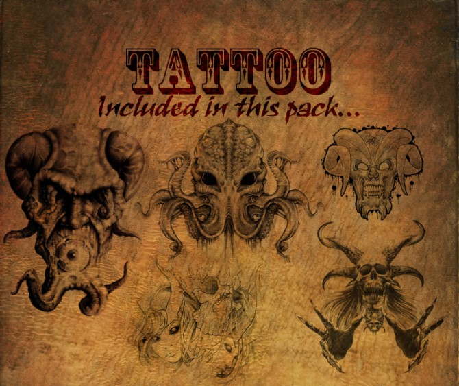 Sims 4 KF Tat Pack #25 Eldritch Horrors by KisaFayd at Mod The Sims