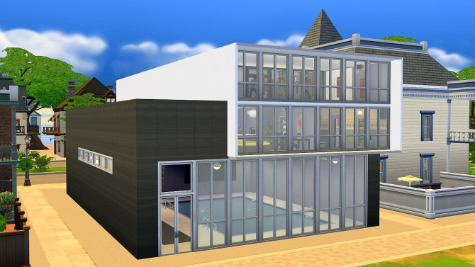 Sims 4 Fancy Cuboid (Gym) by egureh at Mod The Sims