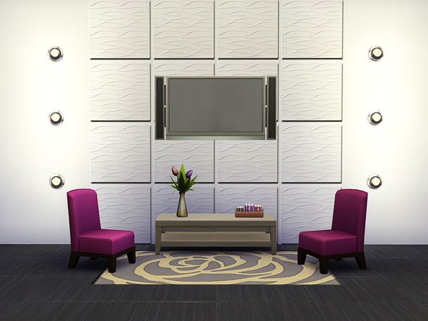 Wavy Wall Tiles by Rirann at TSR image 266 Sims 4 Updates